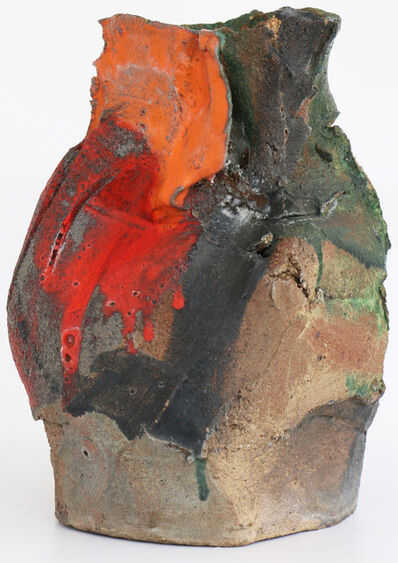 John Mason, 'Early Ab Ex Sculptural Four Colored Vessel', ca. 1960