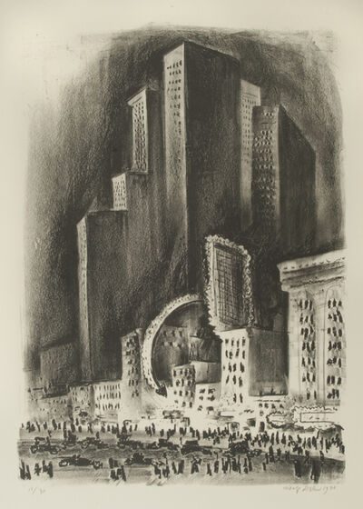 Adolf Arthur Dehn, 'New York Night', 1930