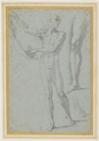Francesco Mazzola, called Parmigianino, 'Standing Nude Man with Scroll', 1503-1540