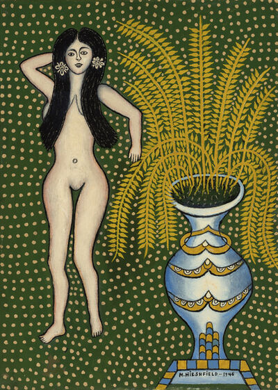 Morris Hirshfield, 'Nude with Vase', 1946