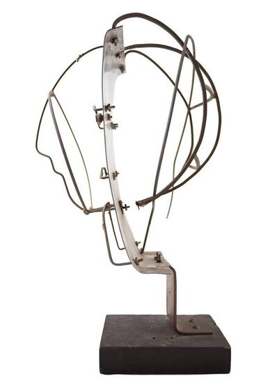Irving George Lehman, 'Modernist Sculpture Figural Portrait Bust Brutalist Wire Work', Mid-20th Century