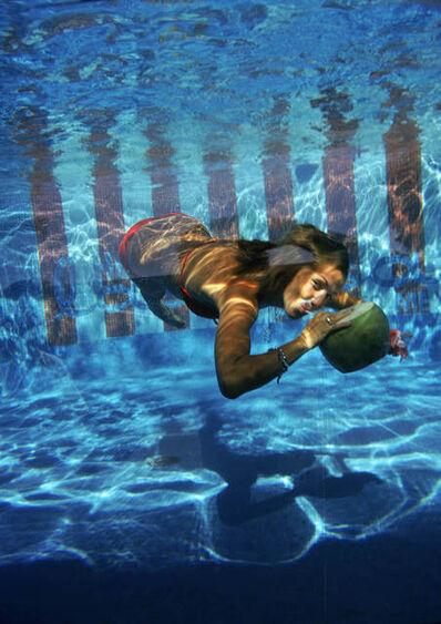 Slim Aarons, 'Underwater Drink', 1972