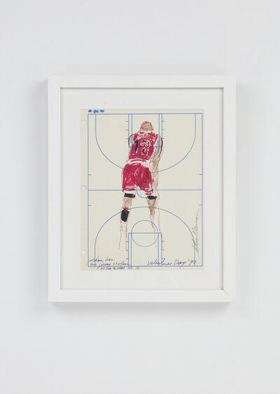 LeRoy Neiman, 'Michael Jordan wearing number 12', 2011