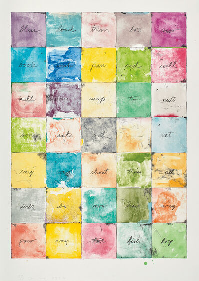 Jim Dine, 'Wall Chart I', 1974