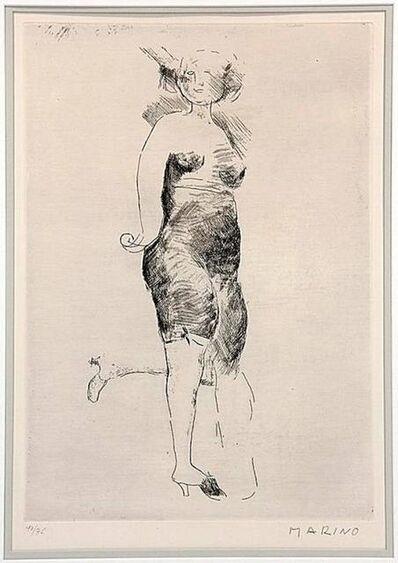 """Marino Marini, 'Marino Marini Etching """"Miracle"""" Hand Signed and Numbered', 20th Century"""