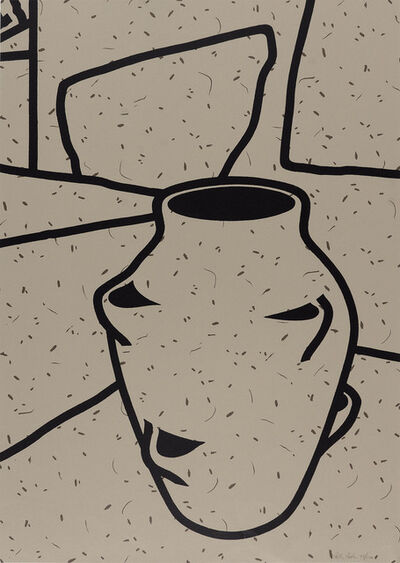 Patrick Caulfield, '(i) Fern Pot (ii) Plant Pot'