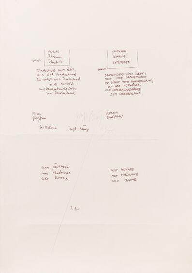 Joseph Beuys, 'Non puttane, non madonne, solo donne', 1979