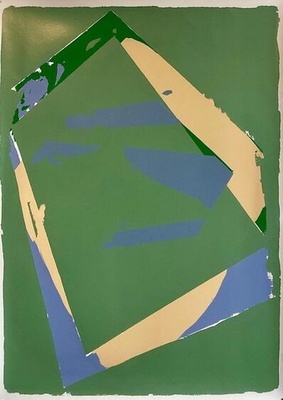 Darryl Hughto, '1970s Large Abstract Color Field Silkscreen Modernist Serigraph Bold Blue Green', 1970-1979