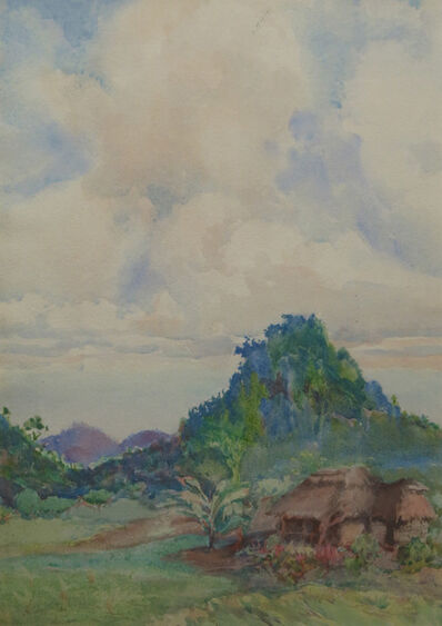 Nelly Littlehale Murphy, 'Thatched Hut in Landscape', 19th -20th Century