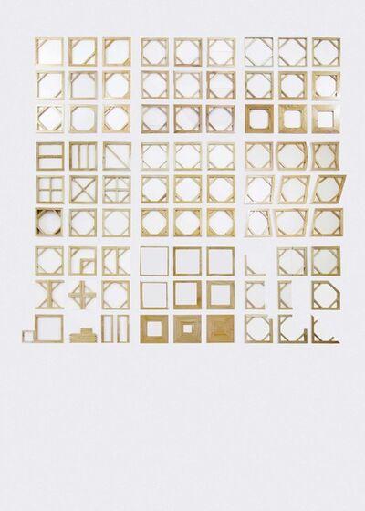 Aditya Novali, 'Diagram of Canvas as A Language #1, #3 - #10', 2014
