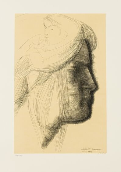 Emilio Greco, 'Ommagio a Michelangelo', 1975