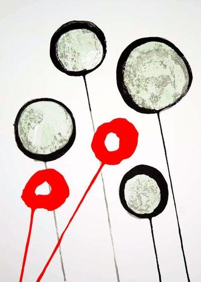 Alexander Calder, 'Alexander Calder 1960s Roses lithograph Derrière le miroir (Calder prints)', 1966
