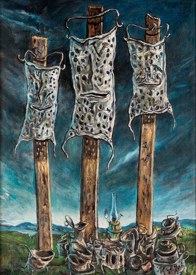 Yosl Bergner, 'The Three Pole Sitters', 1974