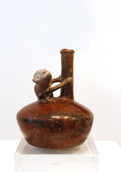 Unknown Pre-Columbian, 'Vessel with monkey. La Tolita, Ecuador', 500 BCE -500