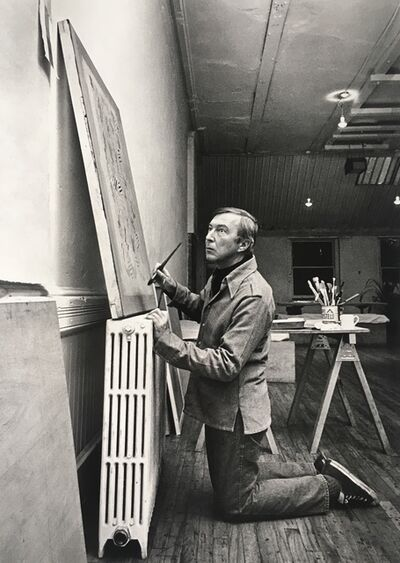 Hans Namuth, 'Jasper Johns at Simca Print Artists, New York', 1976