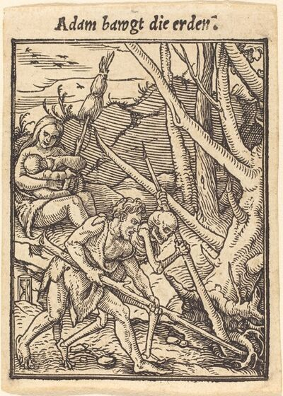 Hans Holbein the Younger, 'Adam Cultivating'