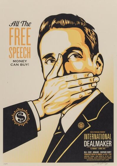 Shepard Fairey (OBEY), 'Free Speech', 2018