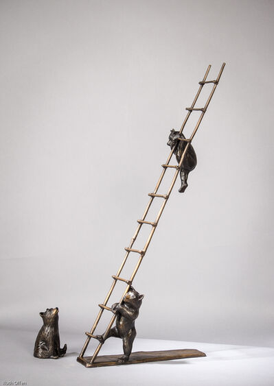 Barbara Duzan, 'Trouble - Cubs on a Ladder'
