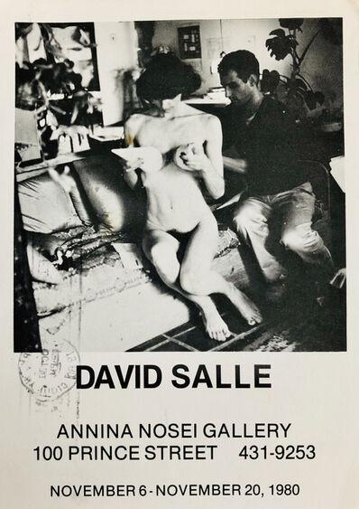 David Salle, 'David Salle at Anina Nosei 1980 announcement ', 1980