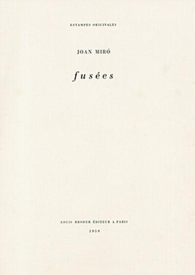Joan Miró, 'Fusées', 1959