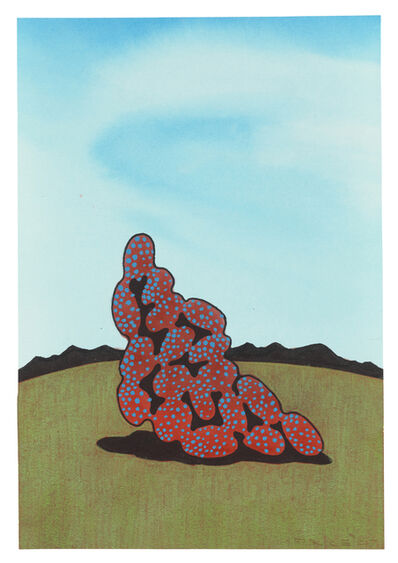 Ken Price, 'Red Spotted Piece on Green Hill', 2007