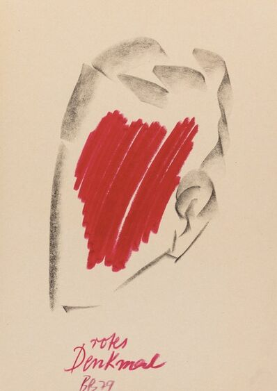Bernhard Johannes Blume, 'Rotes Denkmal', 1979