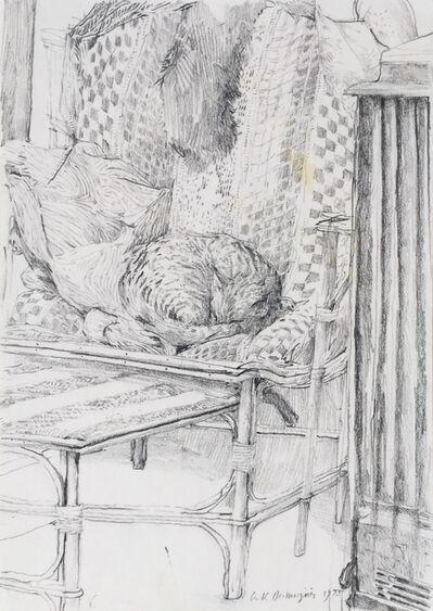 Erik Desmazières, 'Chat endormi', 1985