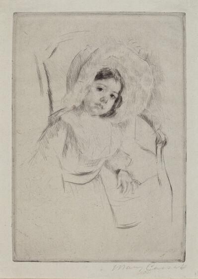 Mary Cassatt, 'Margot in a Floppy Bonnet Leaning against a Chair', ca. 1902