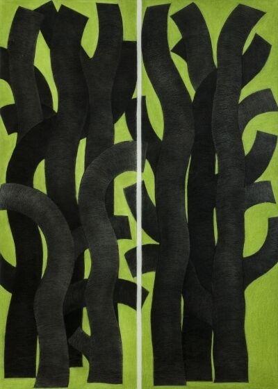 Garo Antreasian, 'Back Tree, Green Ground', 2001