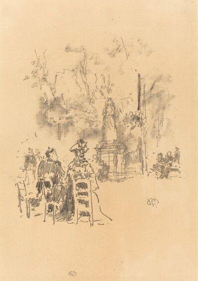 James Abbott McNeill Whistler, 'Conversation under the Statue, Luxembourg Gardens', 1893