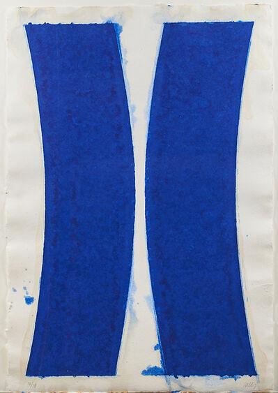 Ellsworth Kelly, 'Colored Paper Image V (Blue Curves)', 1976
