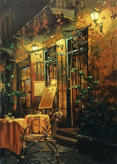 Viktor Shvaiko, 'ROMANTIC EVENING (HAND EMBELLISHED)', 1999
