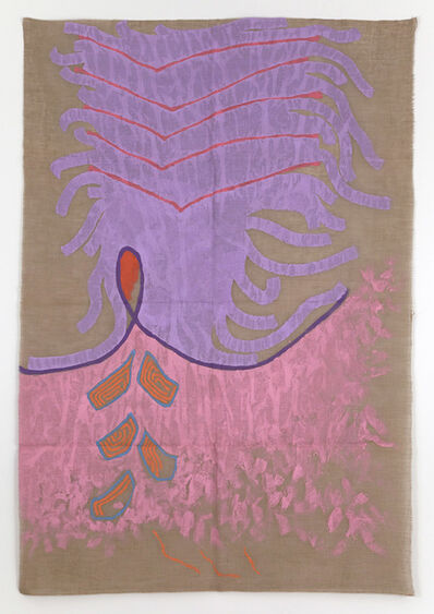 Giorgio Griffa, 'Rosa e viola', 1989
