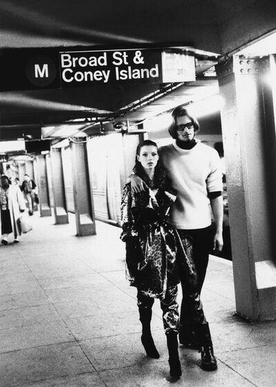 Stephanie Pfriender Stylander, 'Kate Moss and Marcus Schenkenberg, Harper's Bazaar Uomo, New York', 1992
