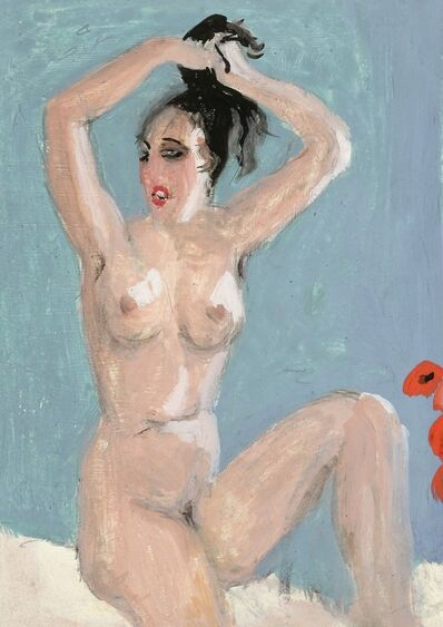 Alfons Walde, 'Nude with Red Poppies', ca. 1925