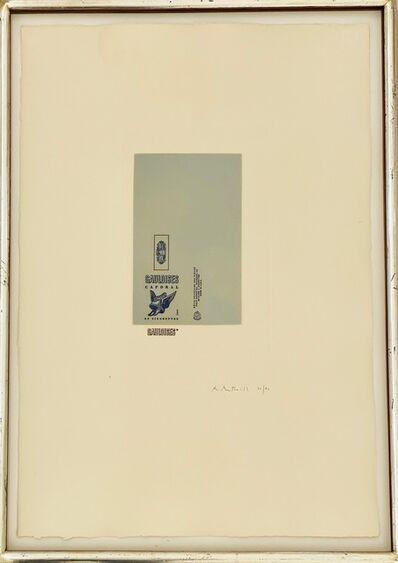 Robert Motherwell, 'Gauloises Bleues (White)', 1970