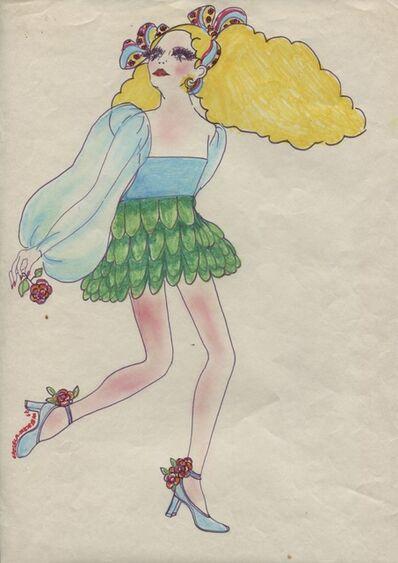 Delia Cancela, 'Chica rubia floral', 1967