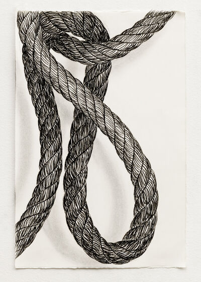 Claudia Parducci, 'Rope Drawing, Day 16', 2019