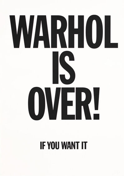 Simon Thompson, 'Warhol Is Over (White)', 2007