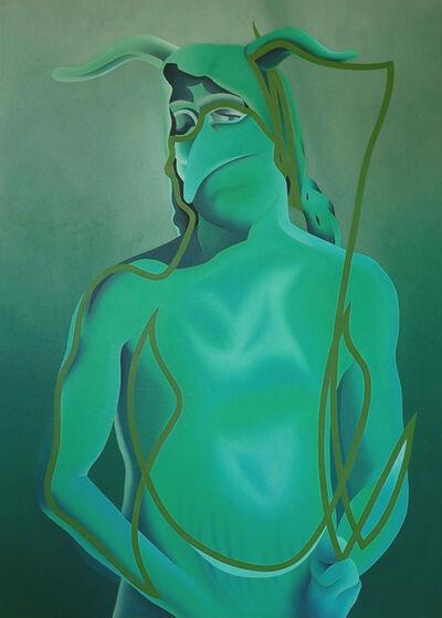Stefano Perrone, 'Giullare (Correfoc) (green)', 2020