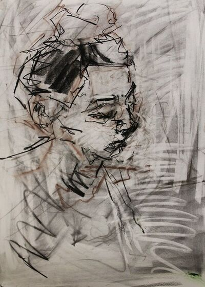 Richard Fitton, 'Head of Nat - Charcoal ', 2017