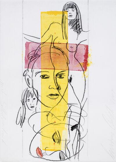 Luciano Castelli, 'Selbstbildnis - Entwurf zur Leinwand', 2001