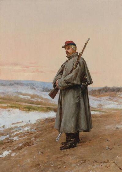 Etienne Prosper Berne-Bellecour, 'On Patrol', 1896