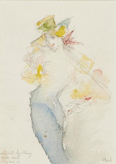 Beatrice Wood, 'Portrait du Chieng après récit (matted and framed)', 1917