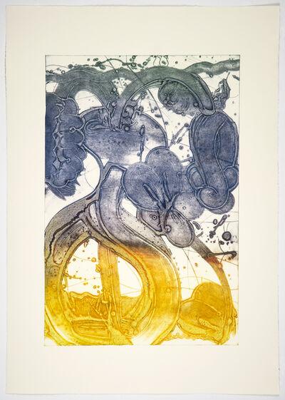 Catherine Howe, 'Bouquet (mum, pale lemon, red, blue, hunter)', 2019