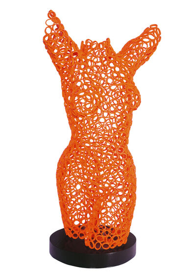 Niso Maman, 'Female Torso - O Ring 3/4 Life Size ORANGE'