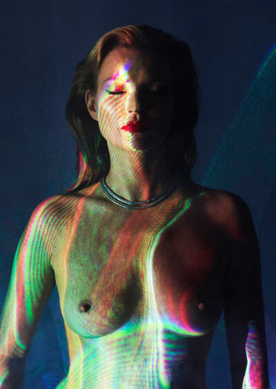 "Chris Levine, '""Kate Moss, She's Light, Laser 2""', ca. 2012"