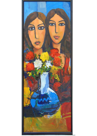 Alex Khattab, 'Girls With Flowers', 2019