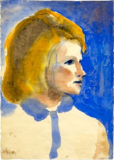 Emil Nolde, 'Young Girl from Friesland', 1925