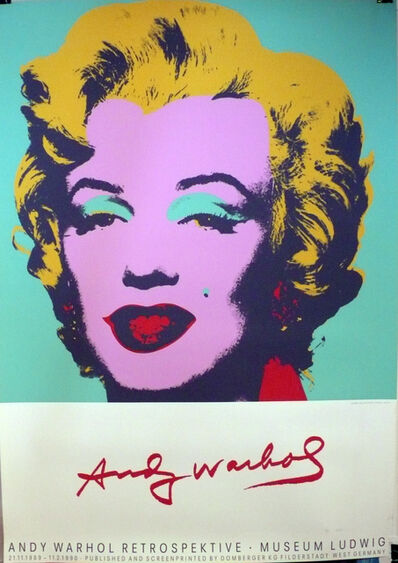 Andy Warhol, 'Andy Warhol Retrospektive Museum Ludwig, HOLIDAY SALE $250 OFF THRU MAKE OFFER', 1990